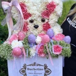 Buchetino florists have made a flower bunny for you especially for Easter🐇🤍 Order🌐: www.buchetino.ro Call ☎️: 0720701701 Shop🏠: B-dul Mircea Voda 34, Bucuresti Shop🏠: B-dul Mamaia 62; Constanta