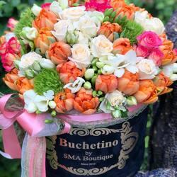 Monday colors in a bouquet of orange tulips🤍🌞  Order🌐: www.buchetino.ro Call ☎️: 0720701701 Shop🏠: B-dul Mircea Voda 34, Bucuresti Shop🏠: B-dul Mamaia 62; Constanta