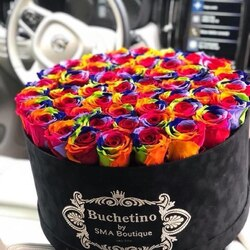 Rainbow of colors in luxury Buchetino arrangements💜 🌐 www.buchetino.ro ☎️ 0720701701